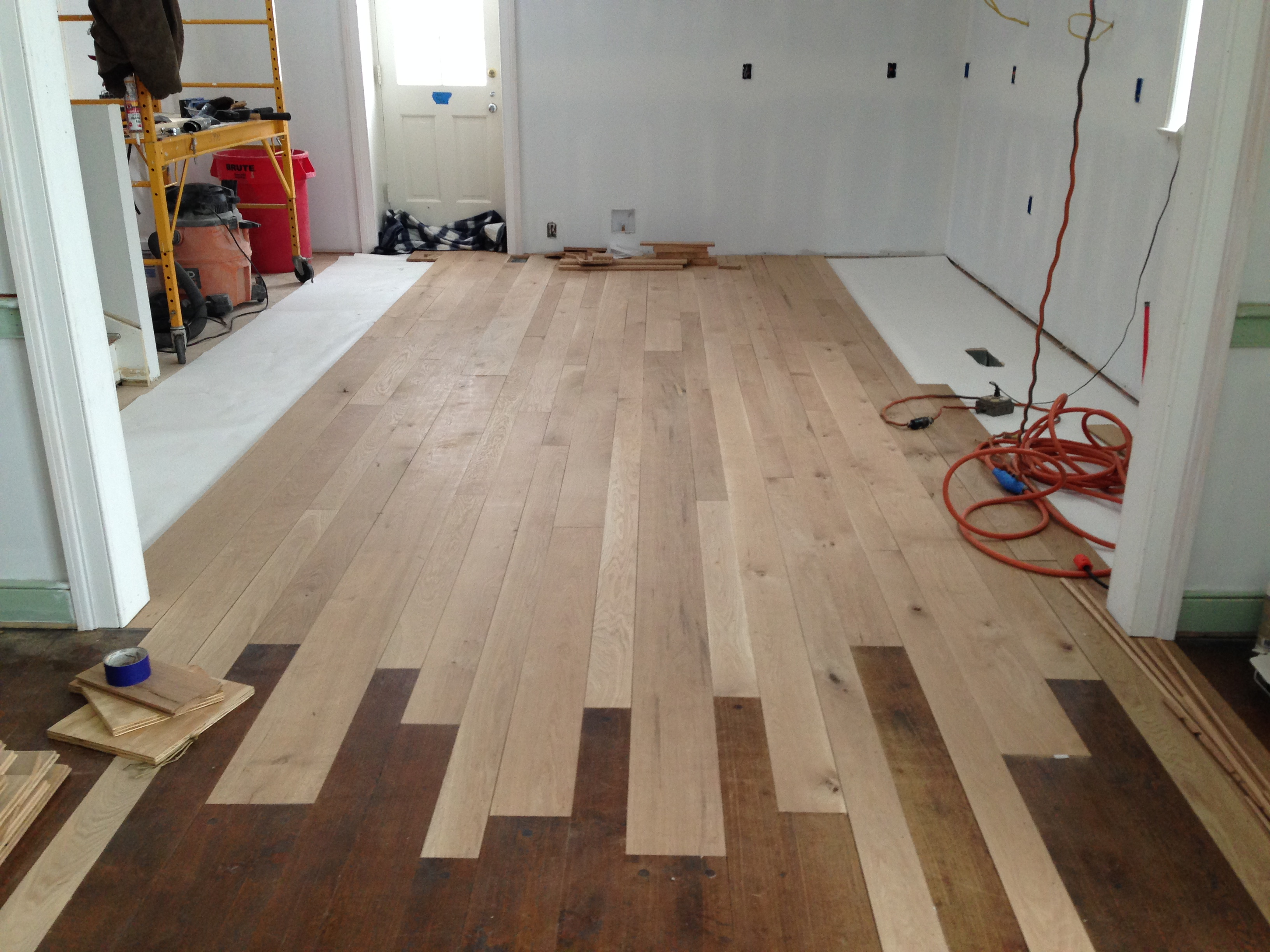 Oak Floors In Kitchen Mangum Renovations Bringing A Farmhouse In To The 21st Century